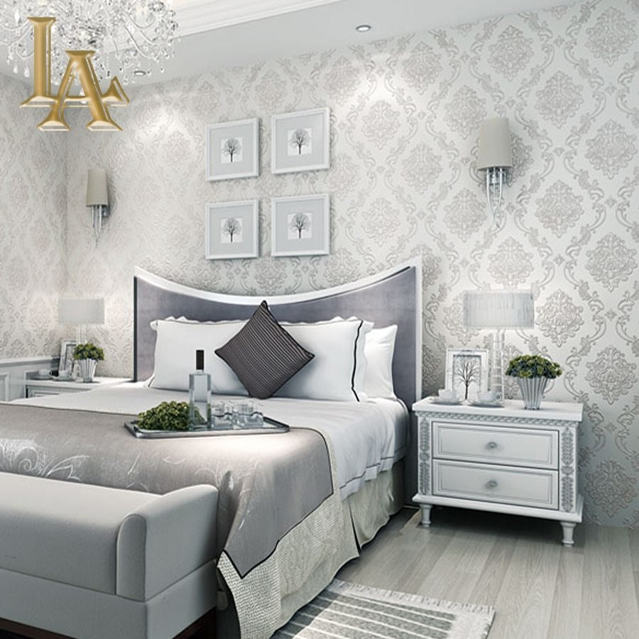 Best Classic European Style Wall Papers Home Decor Embossed 3D With Pictures