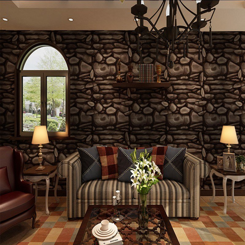 Best Custom Photo Wallpaper Custom Brown Stone Wall Background With Pictures