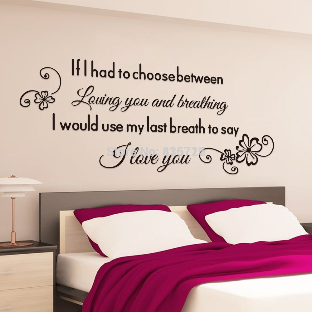 Best Aliexpress Com Buy Romantic English Proverbs Wall With Pictures