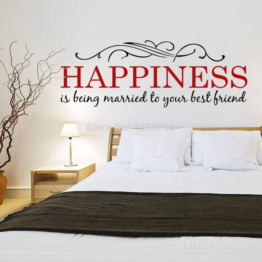 Best Happiness Diy Wall Stickers Mural Kids Bedroom Living Room With Pictures