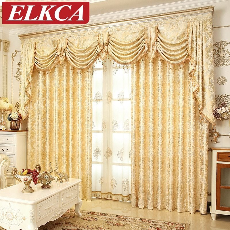 Best European Golden Royal Luxury Curtains For Bedroom Window With Pictures