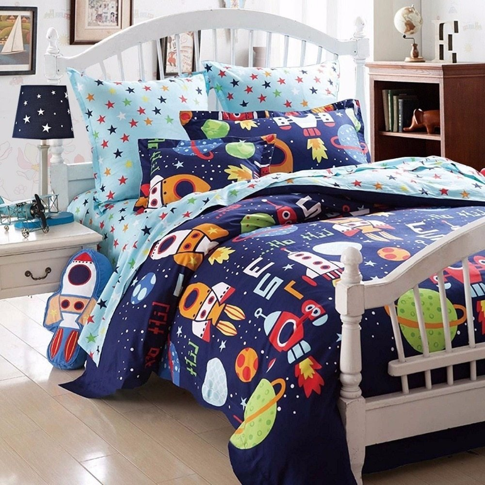 Best Boys Bedding Sets Space Adventure Bedding Set 100 Cotton With Pictures