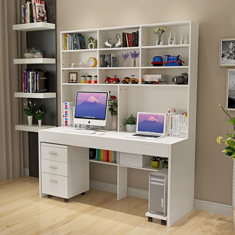 Best Computer Desk With A Simple Modern Desktop Bookcase Desk With Pictures