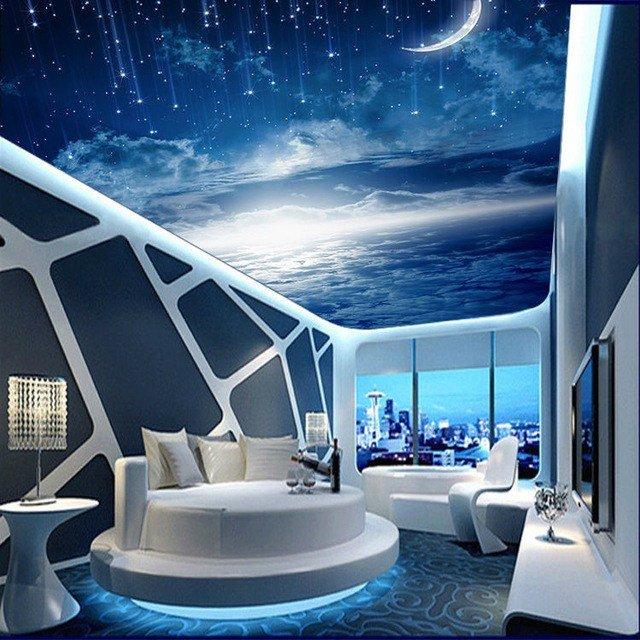 Best Galaxy Wallpaper 3D View Photo Wallpaper Bedroom Ceiling With Pictures