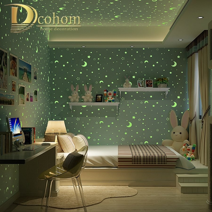 Best Aliexpress Com Buy 3D Luminous Stars And The Moon For With Pictures