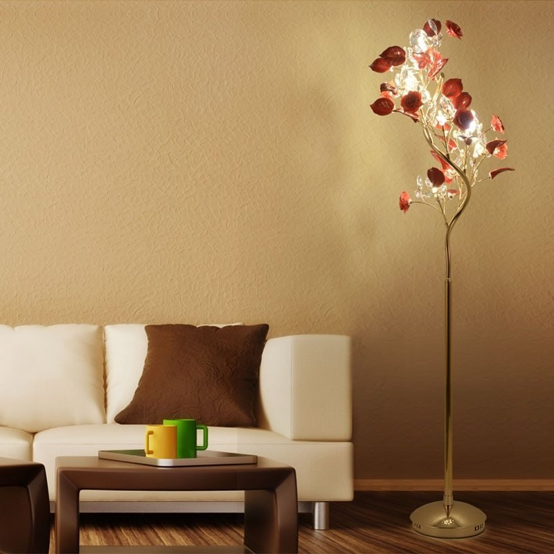 Best French Garden Vertical Floor Lamp Modern Ceramic Crystal With Pictures