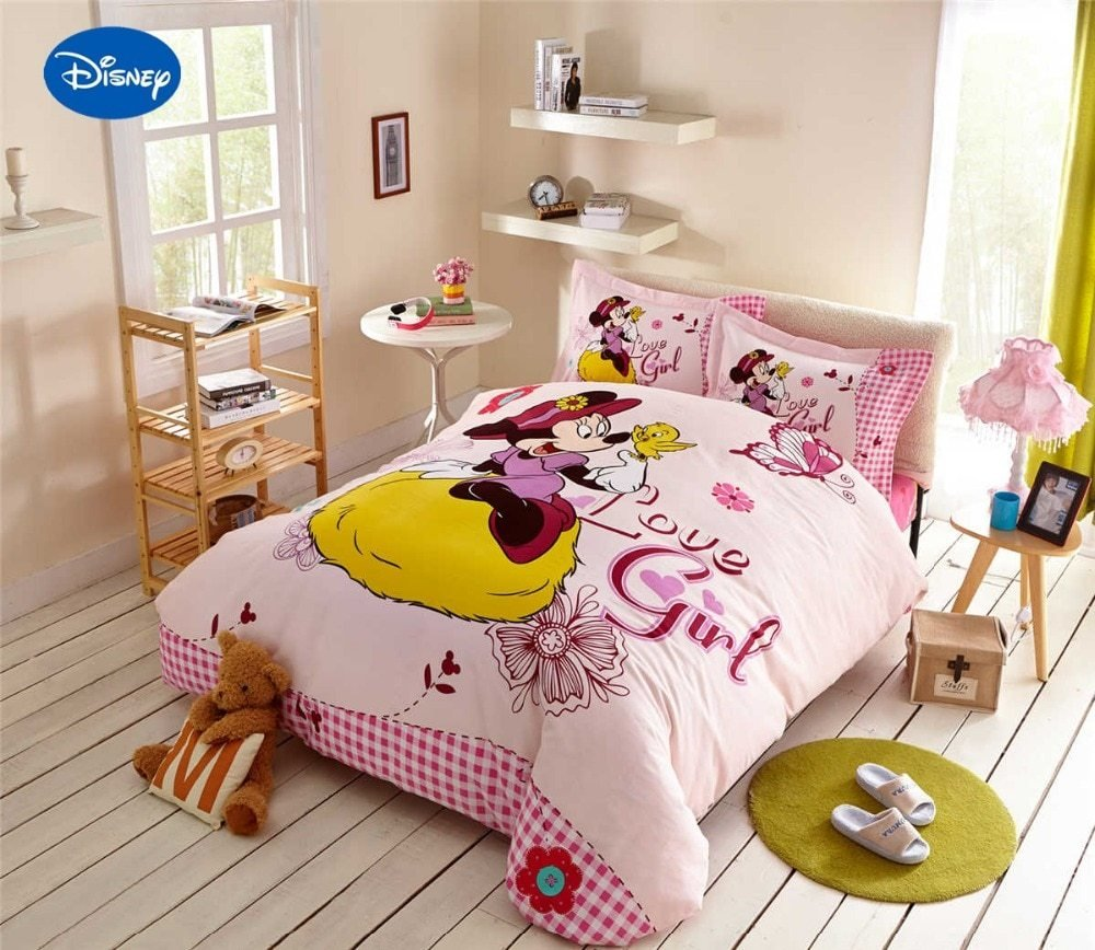 Best Minnie Mouse Comforter Sets Cartoon Disney Bedding Textile Girl S Bedroom Decor Single Twin With Pictures