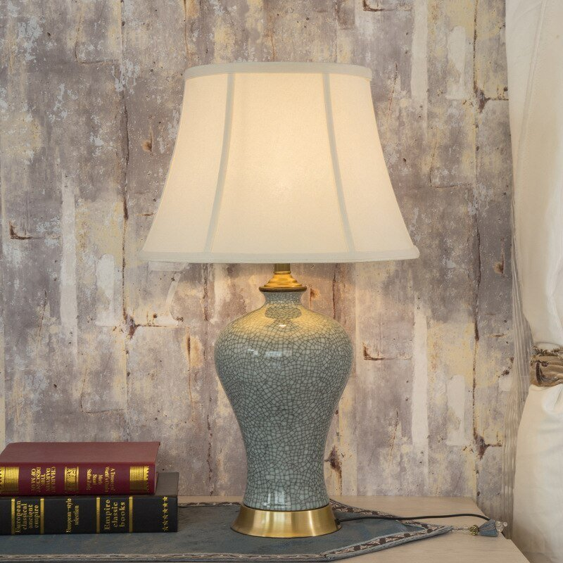 Best Art Chinese Porcelain Ceramic Table Lamp Bedroom Living Room Wedding Table Lamp Jingdezhen Deer With Pictures