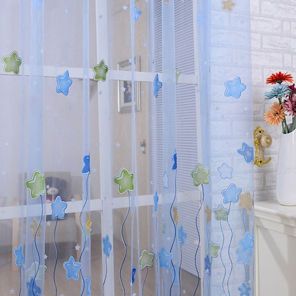 Best 1Pcs New Tulle Voile Sheer Curtains For Kids Girls Bedroom With Pictures