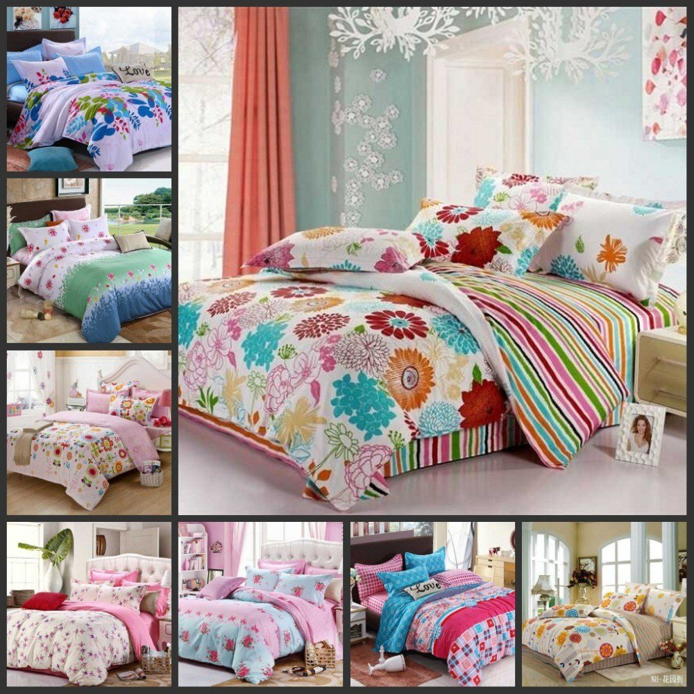 Best Various Colorful Beautiful Flowers T**N Girls Bedding Sets With Pictures