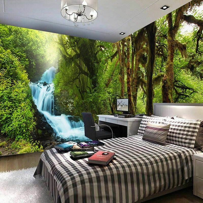 Best Nature Scenery 3D Wall Mural Custom Hd Hd Tropical Rain With Pictures
