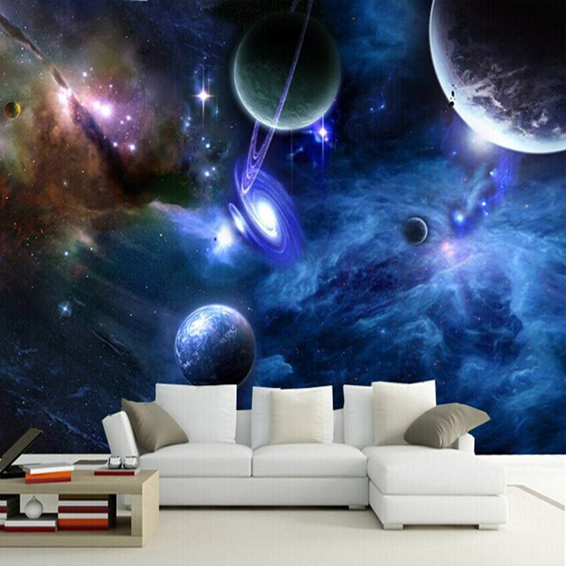 Best Aliexpress Com Buy Custom 3D Murals Galaxy Fluorescent Photo Wallpapers Moisture Home Decor With Pictures