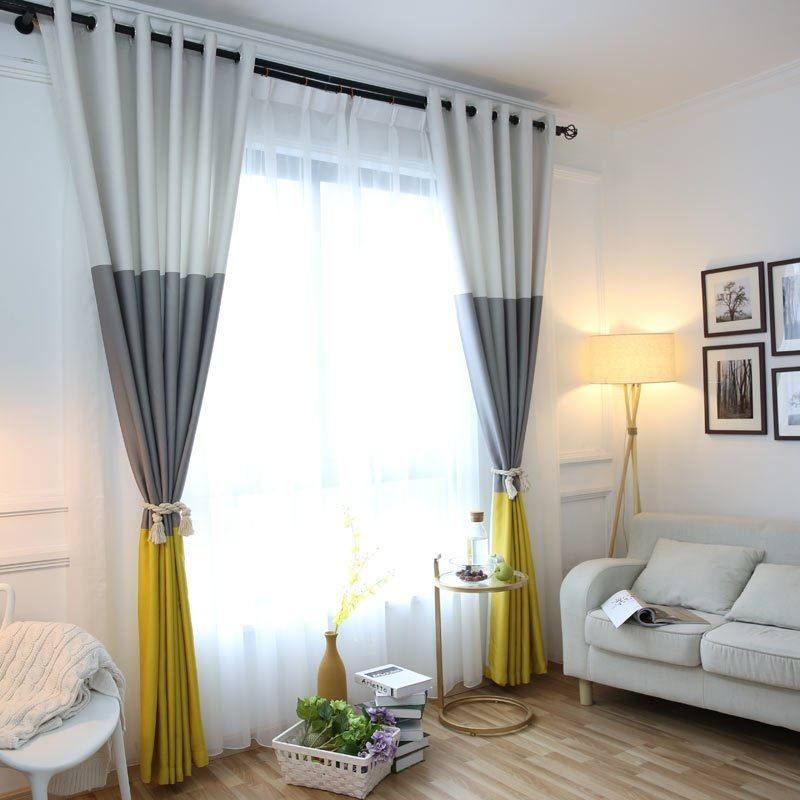 Best 3 Colors Striped Blackout Curtains For The Bedroom Cotton Linen Modern Curtains For Living Room With Pictures