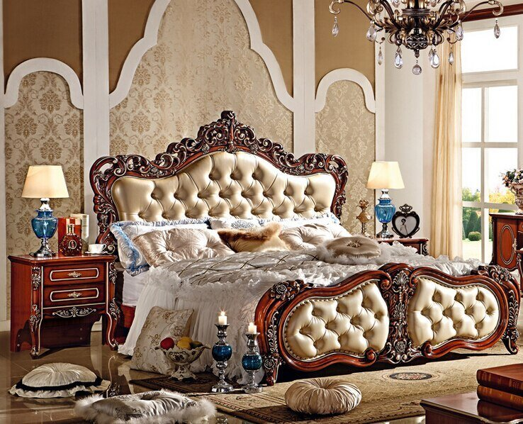 Best 2015 New Arrival Luxury European Latest Bedroom Furniture With Pictures