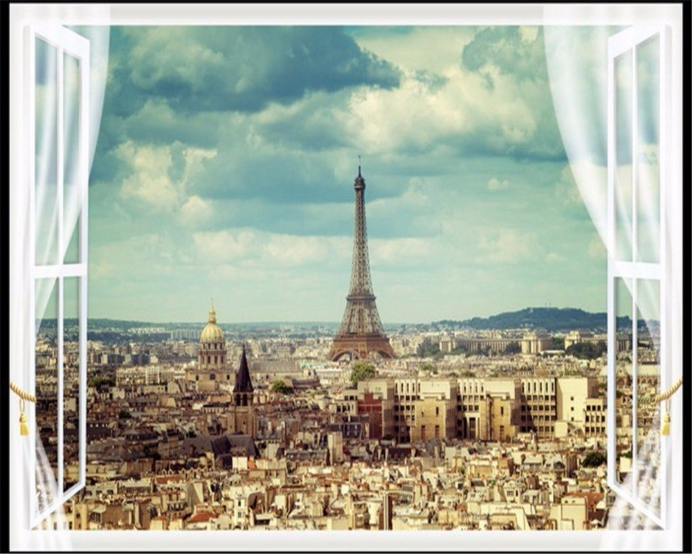 Best Beibehang Large Wallpapers Paris Eiffel Tower City With Pictures