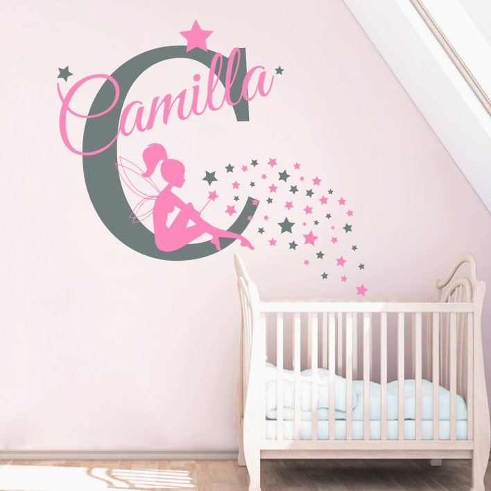 Best ⊱Name Sticker Little Fairy Girls ᐂ Bedroom Bedroom With Pictures