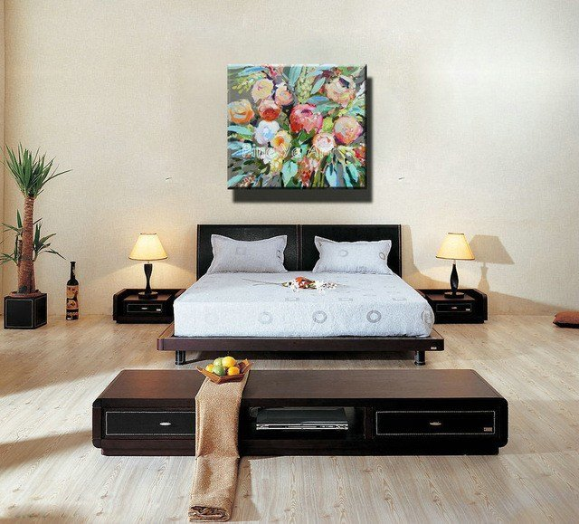 Best Famous Artist Acrylic Paint Bedroom Abstract Modern Canvas With Pictures