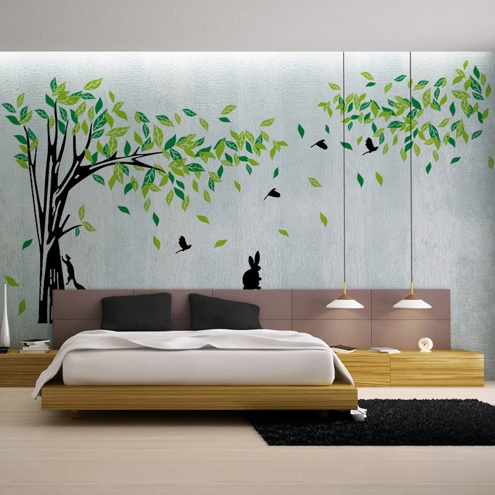 Best Green Tree Wall Sticker Large Vinyl Removable Living Room With Pictures