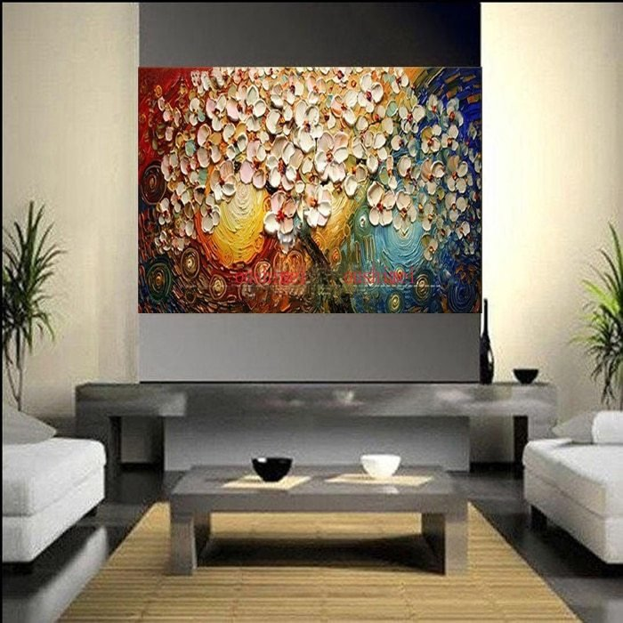 Best Handmade Thickness Abstract On Canvas Pachira Macrocarpa With Pictures