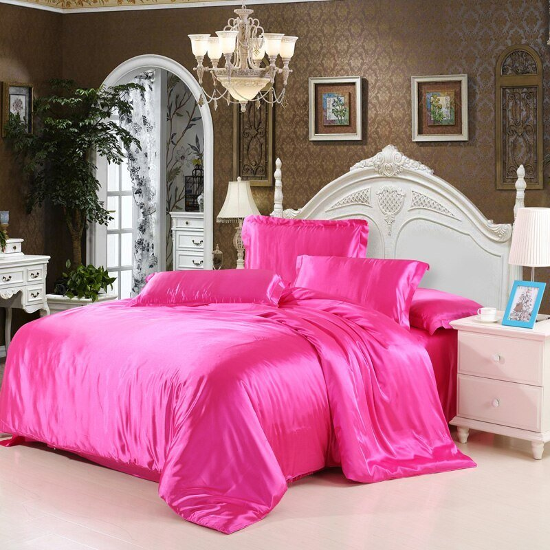 Best Cheap Luxury Bedding Sets Silk Quilt Duvet Cover Sets Full With Pictures