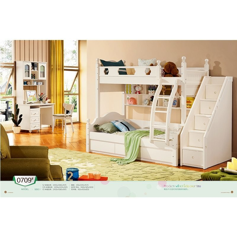 Best Cheap Price Twin Size Wooden Loft Children Bunk Bed With With Pictures
