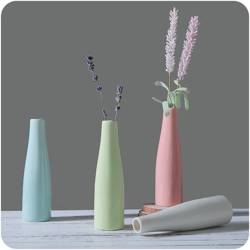 Best Nordic Style Ceramic Flower Plant Vases Colorful Porcelain With Pictures
