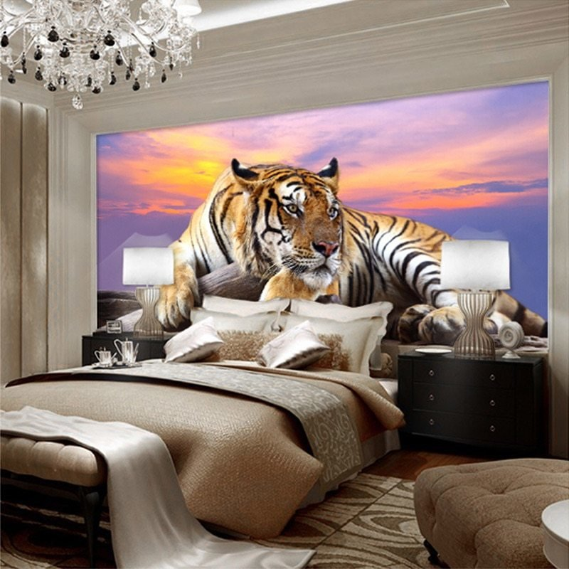 Best Beibehang Custom Photo Wallpaper Tiger Animal Wallpapers With Pictures