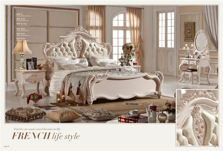 Best Luxury French Fancy Antique Design Bedroom Furniture Sets With Pictures
