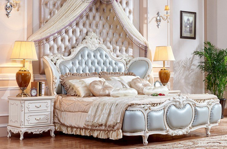 Best Bedroom Furniture Luxury King Size Bed French Style With Pictures