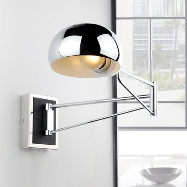 Best Chrome Wall Sconce Bedside Wall Fixtures Lighting For With Pictures