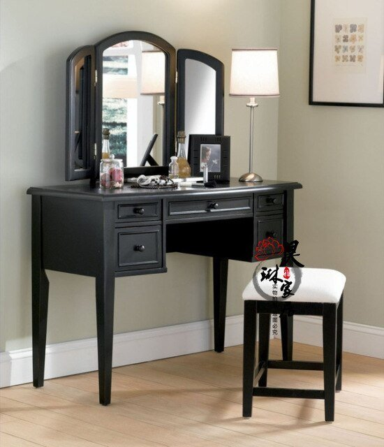 Best American Style Solid Wood Vanity French Retro Folding With Pictures