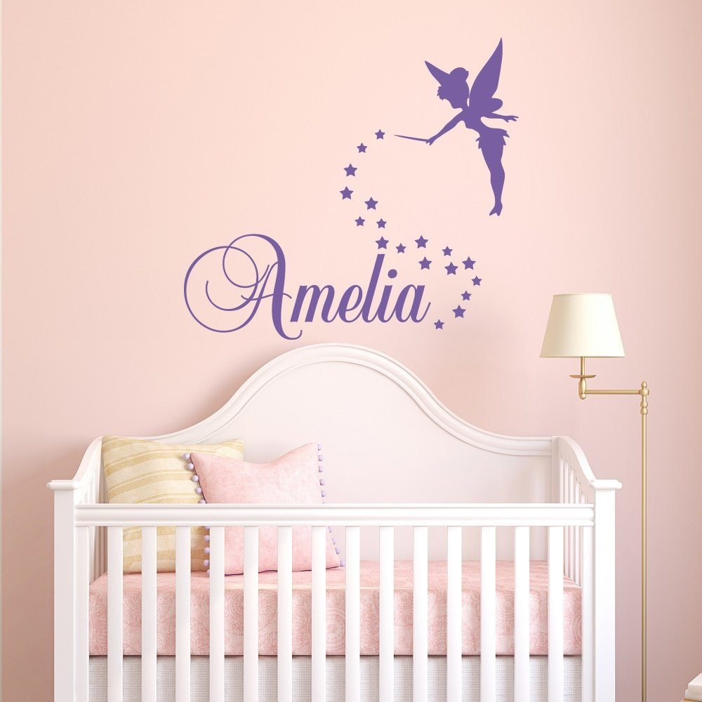 Best Fairy Wall Decal Personalized Name Girls Name Bedroom Wall With Pictures
