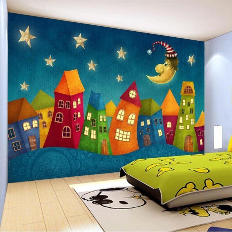 Best Custom Wall Paper Cartoon Children Castle 3D Wall Murals With Pictures