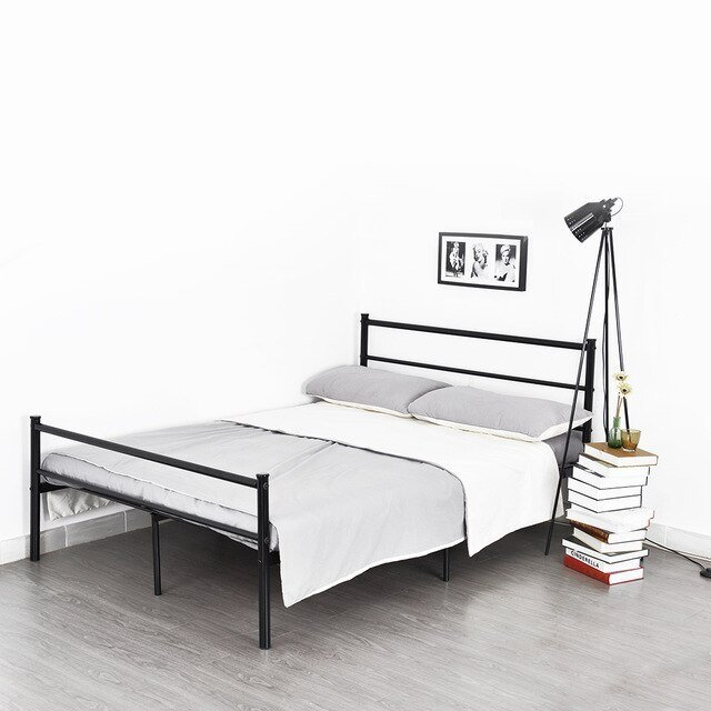 Best Aingoo Structure Stainless Steel Double Bed Frame Modern With Pictures