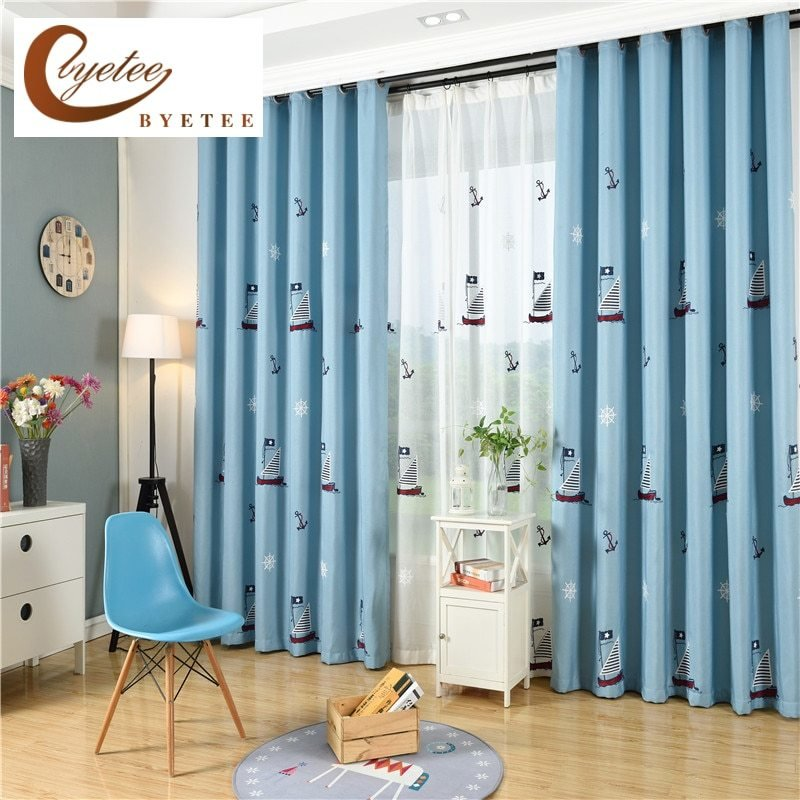 Best Byetee Children Curtains For Living Blackout Embroidered With Pictures