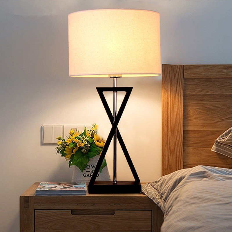 Best Aliexpress Com Buy Mordern Nordic Fabric Table Lamp Bedroom Bedside Lamp E27 For Decor Living With Pictures