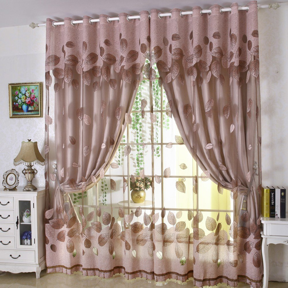 Best Luxury Modern Leaves Designer Curtain Tulle Window Sheer With Pictures