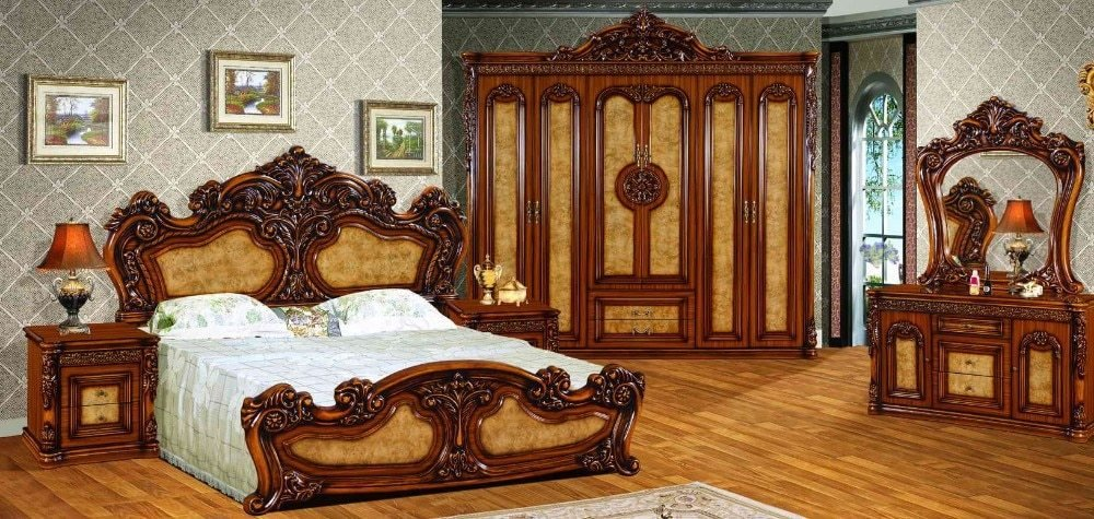 Best High Quality Royal Antique Bedroom Set Furniture Excellent With Pictures
