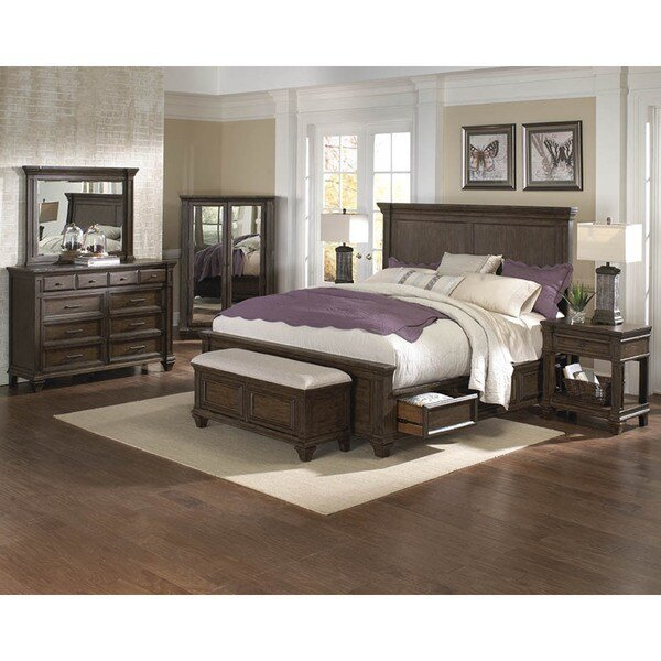 Best Shop Simply Solid Logan Solid Wood 5 Piece Queen Bedroom With Pictures