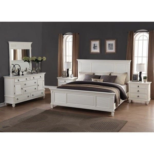 Best Shop Regitina White 5 Piece Queen Size Bedroom Furniture Set Free Shipping Today Overstock With Pictures