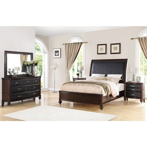 Best Shop Abbyson Delano Luxury 5 Piece Bedroom Set Free With Pictures