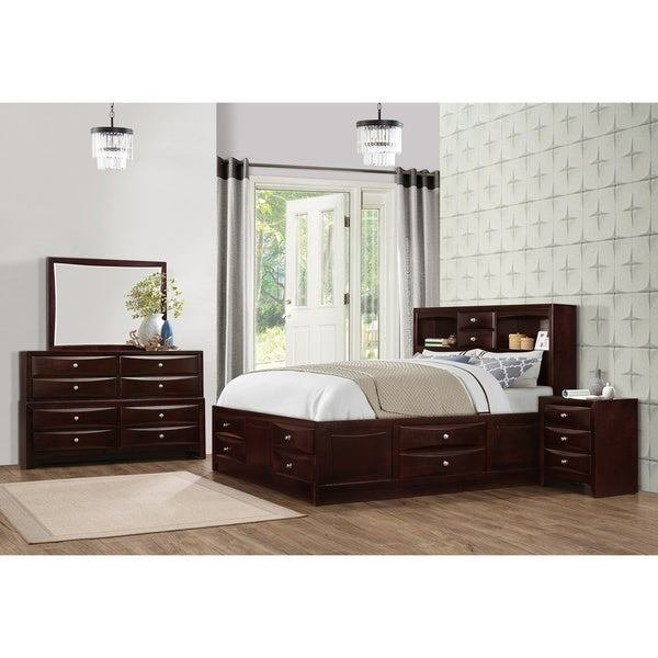 Best Shop Ankara Espresso Finish Wood Bedroom Set Includes With Pictures
