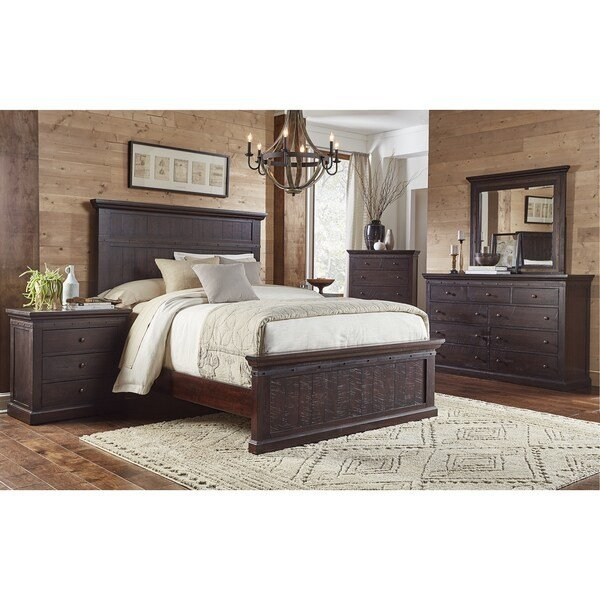 Best Shop Lara 5 Piece Solid Wood King Bedroom Set Free With Pictures