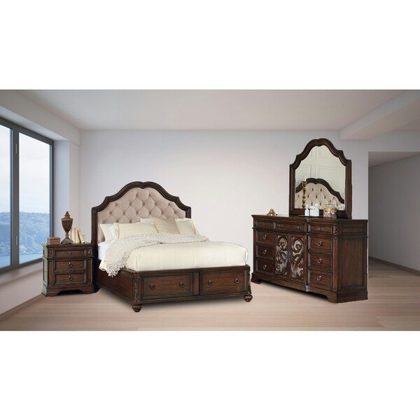 Best Shop Westchester Java 4Pc Storage Bedroom Set On Sale With Pictures