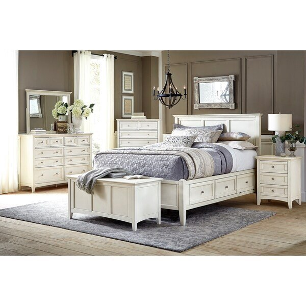 Best Shop Simply Solid Loomis Solid Wood 5 Piece Bedroom Collection On Sale Free Shipping Today With Pictures