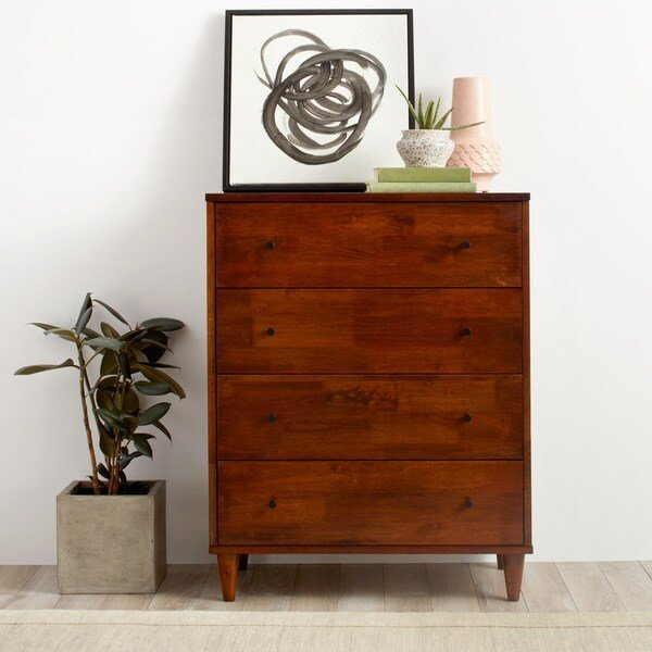 Best Shop Jasper Laine Vilas 4 Drawer Dresser Ships To Canada With Pictures