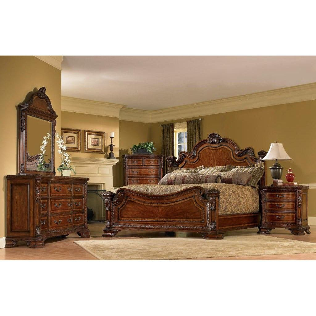 Best A R T Furniture Old World King Size 4 Piece Wood Estate With Pictures