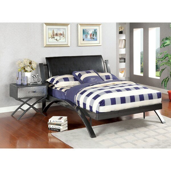 Best Shop Furniture Of America Liam Full Size Bed And Nightstand Bedroom Set Free Shipping Today With Pictures