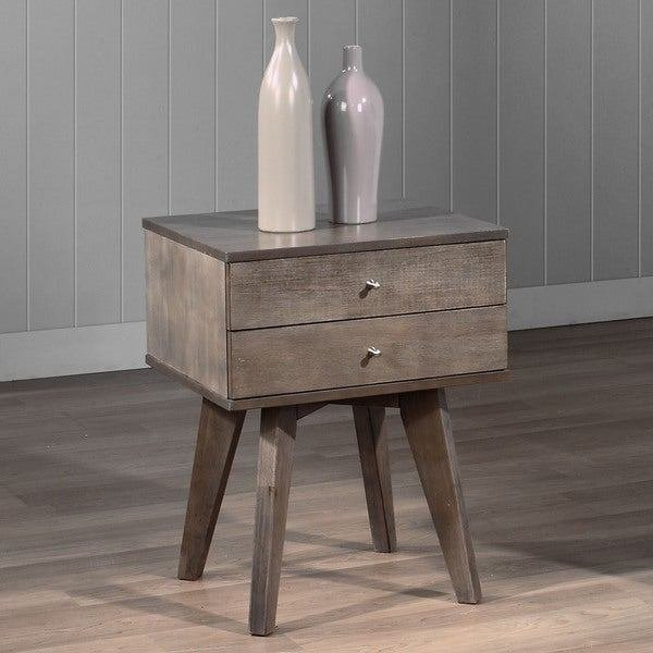 Best Jones Two Drawer Light Charcoal Nightstand Free Shipping With Pictures