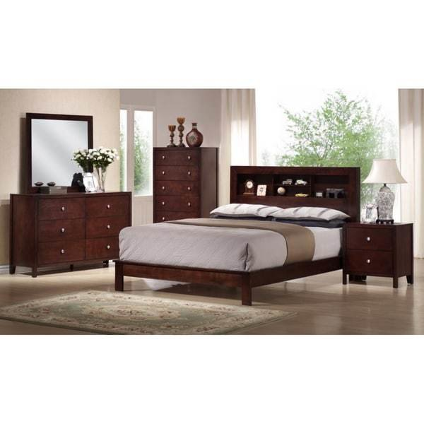 Best Shop Montana King 5 Piece Mahogany Brown Wood Modern With Pictures